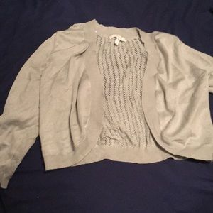 Short crop cardigan